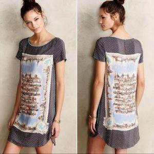 Maeve Anthropologie Around town Silk Tee Dress. S